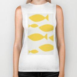 fish pattern Biker Tank