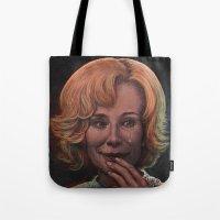 jessica lange Tote Bags featuring Jessica Lange by zinakorotkova