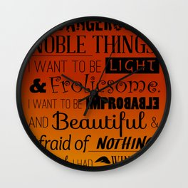 Dangerous and Noble Wall Clock