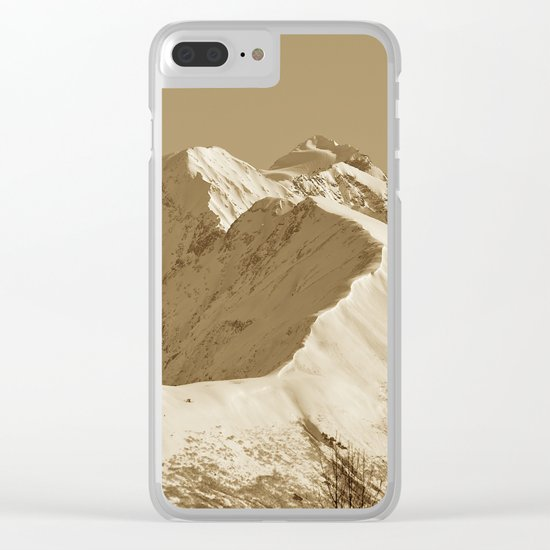 Majestic Mountain - Sepia Clear iPhone Case
