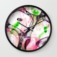 soul Wall Clocks featuring Soul by SensualPatterns