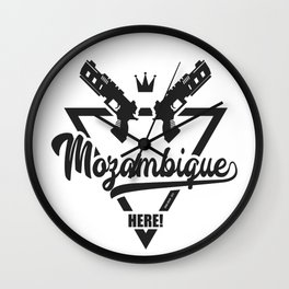 Mozambique Here! Wall Clock