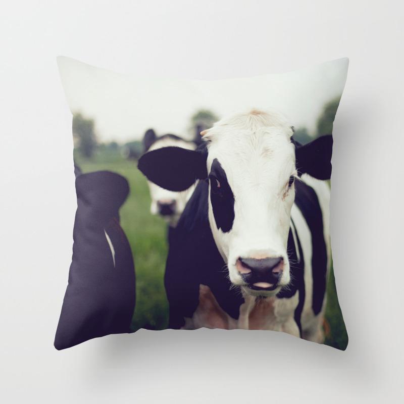 Cow Throw Pillow By Rendavis Society6