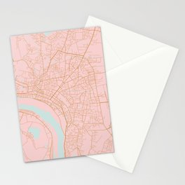 Vientiane map, Laos Stationery Cards