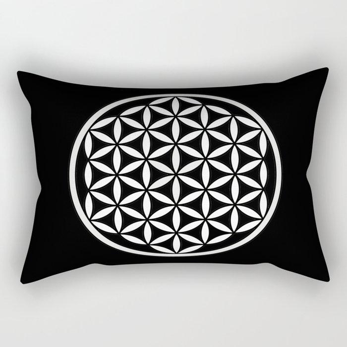 Flower of Life Yin Yang Rectangular Pillow