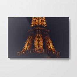 The Eiffel Tower at Night Metal Print