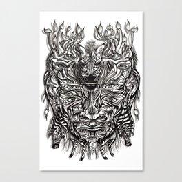 Zebra mask  Canvas Print