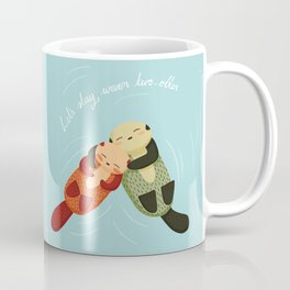 Let's Stay Warm Two-Otter Coffee Mug