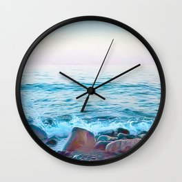 Hope on the Rocks Wall Clock