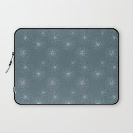 Blue Succulent Rosettes Organic Pattern - Floral Line Drawing Laptop Sleeve