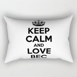 Keep calm and love BEC Rectangular Pillow
