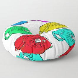 Colorful Telephones Floor Pillow