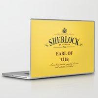 221b Laptop & iPad Skins featuring Earl of 221B by Barn Bocock