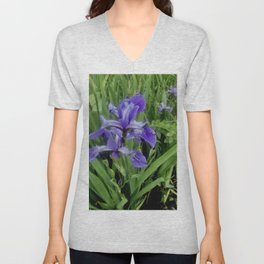 Wild Purple Iris Unisex V-Neck