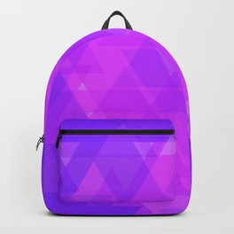Bright purple and pink triangles in the intersection and overlay. Backpack