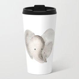 Elephant Mama and Baby Travel Mug