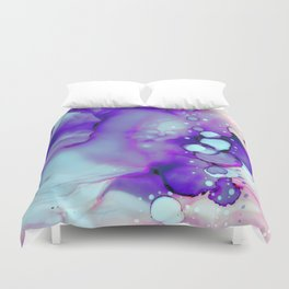 Becoming Abstract Painting in Amethyst Rose Duvet Cover