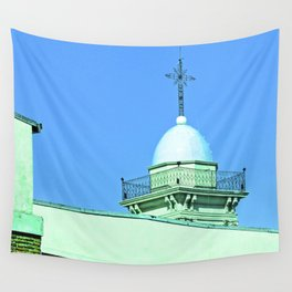 Heaven, cross righteous God. Wall Tapestry