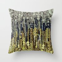fitzgerald Throw Pillows featuring :: Gray Gatsby :: by :: GaleStorm Artworks ::