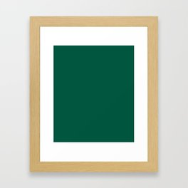 Castleton Green - solid color Framed Art Print