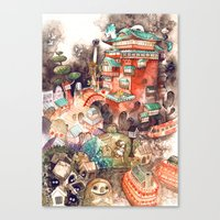 spirited away Canvas Prints featuring Spirited Away by Foya
