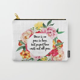No Fear in Floral Carry-All Pouch