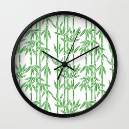 Bamboo Rainfall in White/Sullivan Green Wall Clock