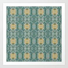 Copper Turquoise Southwestern Pattern Art Print