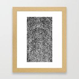 The Lights (Black and White) Framed Art Print