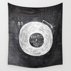 you are what you listen to Wall Tapestry