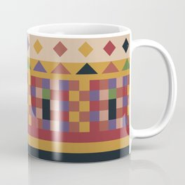 Stripes and squares ethnic pattern Coffee Mug