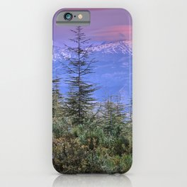 Sierra Nevada at sunset. Purple clouds iPhone Case