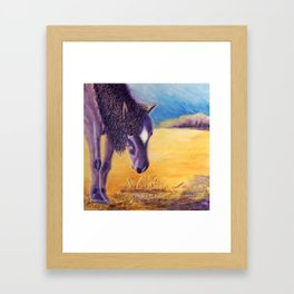 We graze | On broute Framed Art Print