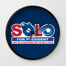 Solo for President Wall Clock