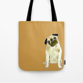 Sitting Pug Tote Bag