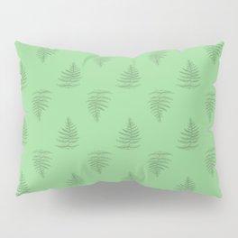 Scientific Green Fern Nature Plant Drawing Pillow Sham