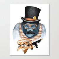 gangster Canvas Prints featuring Gangster by dogooder