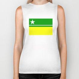 Boa Vista city flag Roraima region brazil country Biker Tank