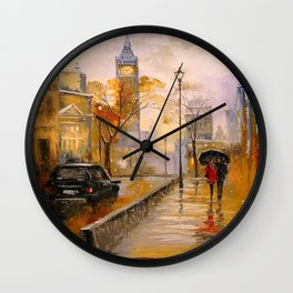 Snow in London Wall Clock