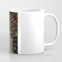 Vibrant pretty as a peacock bird feather art nouveau animal nature photograph Coffee Mug