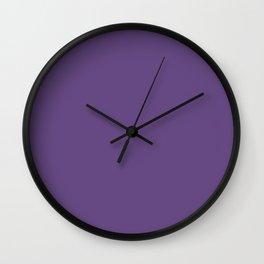 Purple - Solid Color - Deep, Dark, Plum, Jewel Tone Wall Clock