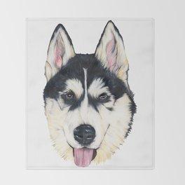 Husky Throw Blanket