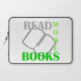 READ MORE BOOKS in green Laptop Sleeve