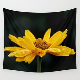Bright Yellow And Black Wall Tapestry