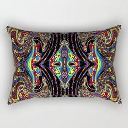 Kaleidoscopic Self Portrait Rectangular Pillow