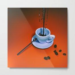 Sine coffea nihil sum Metal Print