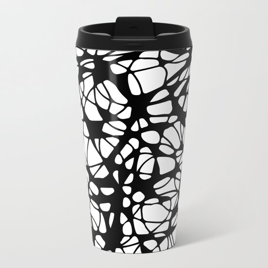 black curves Metal Travel Mug