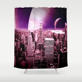 New New York : Galaxy City Shower Curtain