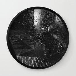 Rain on Hong Kong Wall Clock
