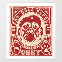obey Art Prints featuring OBEY by frail